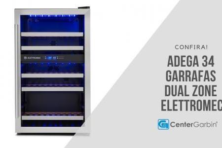 Adega 34 Garrafas Dual Zone   Elettromec