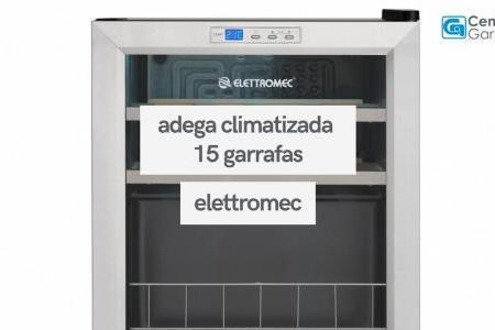 Adega Climatizada 15 Garrafas Compressor Inox   Elettromec