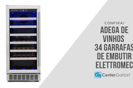 Adega de Embutir 34 Garrafas | Elettromec