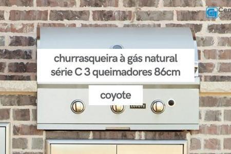 Churrasqueira à Gás Natural Série C 3 Queimadores 86cm | Coyote