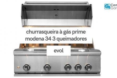 Churrasqueira à Gás Prime Modena 34 3 Queimadores | Evol