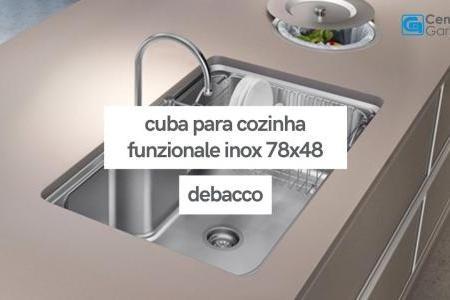 Cuba para Cozinha Funzionale Inox 78x48 | DeBacco