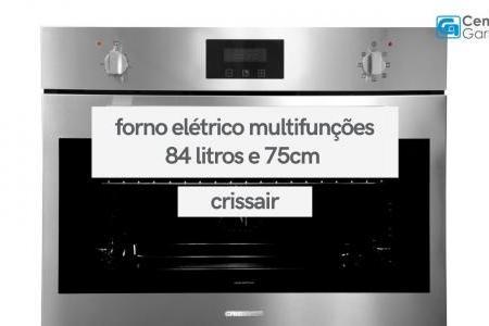 Forno Elétrico 84 Litros Inox 75cm   Crissair