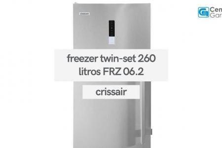 Freezer Twin-Set 260 Litros Inox 220V FRZ 06.2   Crissair