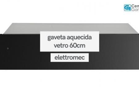 Gaveta Aquecida Vetro Vidro Preto 60cm | Elettromec