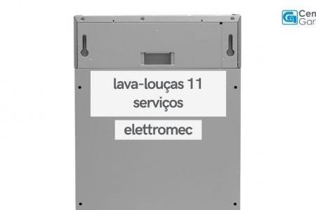 Lava-Louças de Embutir Eletrônica 11 Serviços Inox Sem Revestimento   Elettromec