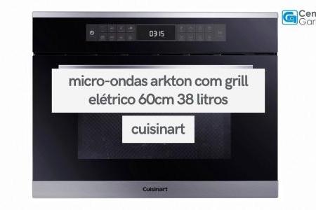 Micro-ondas Arkton com Grill Elétrico Inox 38 Litros | Cuisinart