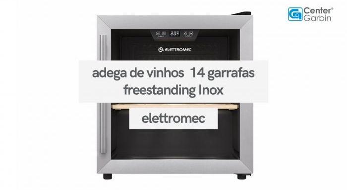 Adega de Vinhos 14 Garrafas Freestanding Inox | Elettromec