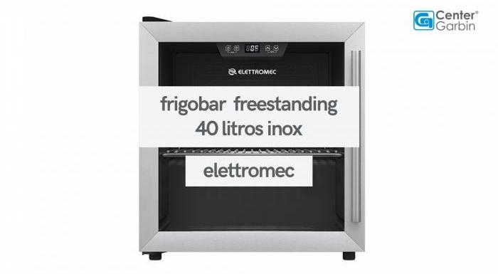 Frigobar Freestanding 40 Litros Inox | Elettromec