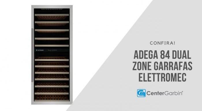 Adega Dual Zone 84 Garrafas   Eletttromec