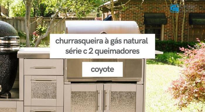 Churrasqueira à Gás Natural Série C 2 Queimadores   Coyote