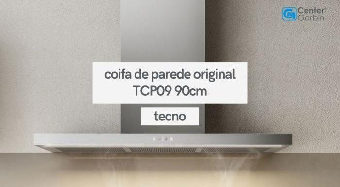 Coifa de Parede Original TCP09 90cm   Tecno