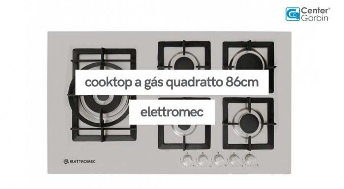 Cooktop a Gás Quadratto 86cm | Elettromec
