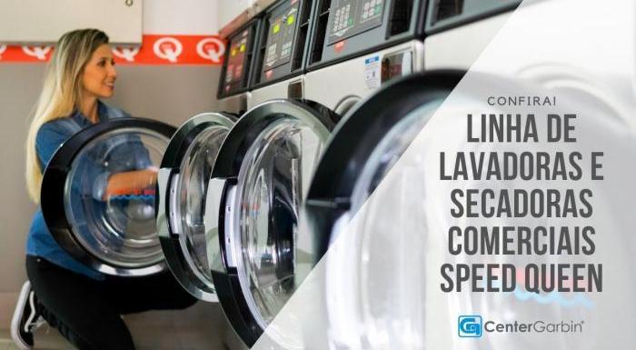 Linha de Lavadoras e Secadoras Comerciais Speed Queen