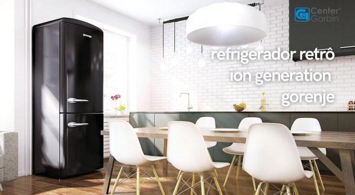Refrigerador Gorenje Retrô Black