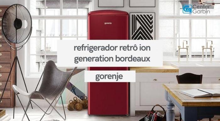 Refrigerador Retrô Ion Generation Bordeaux   Gorenje