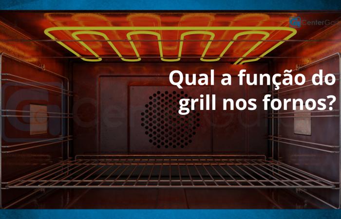 Qual a função do grill nos fornos?