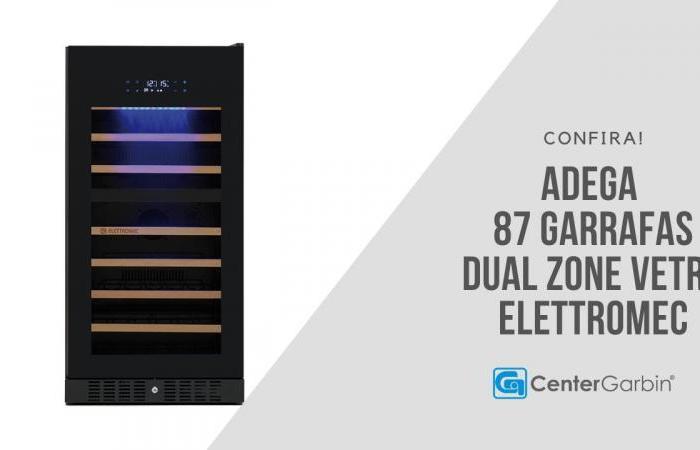 Adega Dual Zone 87 Garrafas Vetro | Elettromec