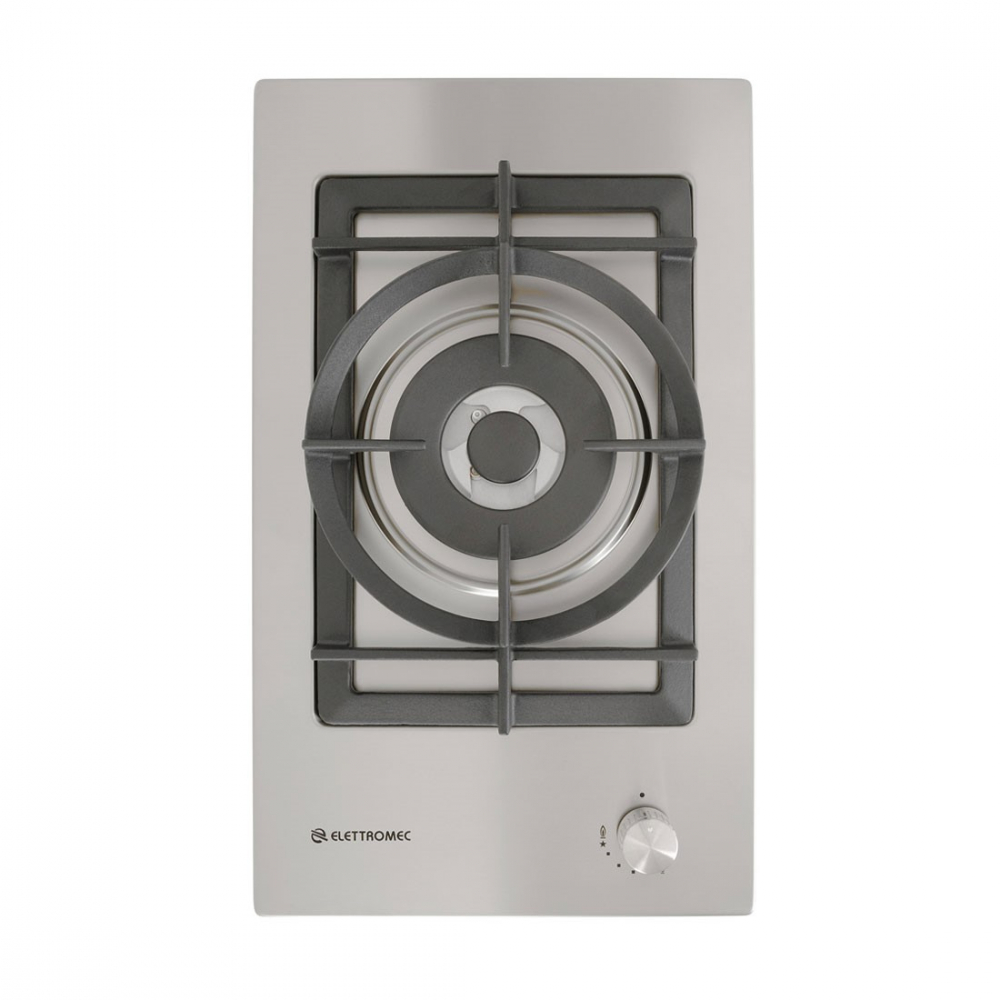 Cooktop Elettromec Dominó Quadratto Dual Flame 1 Boca Inox 30cm Bivolt - DG-1Q-30-XQ-3ZEA