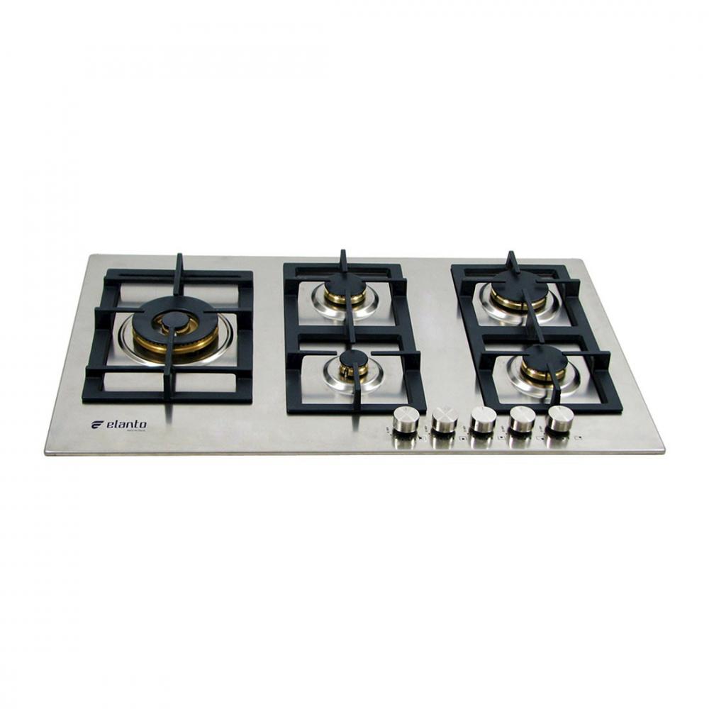 Cooktop Professionale Elanto Semiprofissional a Gás 5 Bocas Inox 86cm 220V - LNTP95GD5BX