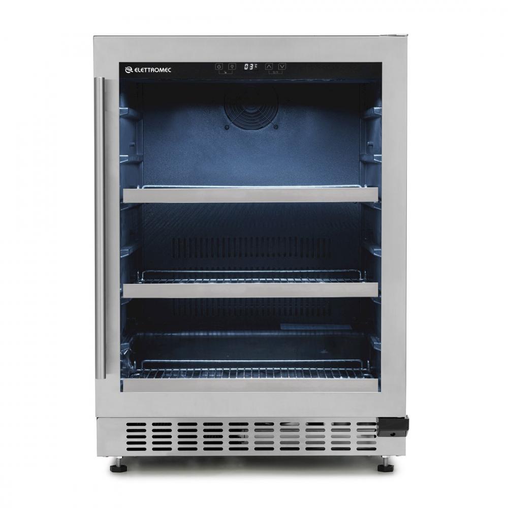 Geladeira/refrigerador 135 Litros 1 Portas Inox - Elettromec - 110v - Fb-bi-135-xv-1ata