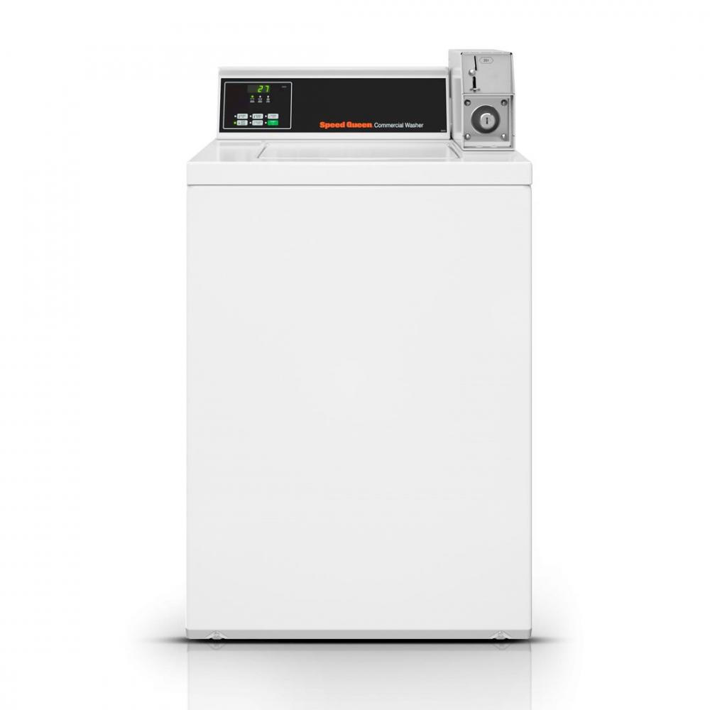Lavadora Comercial Speed Queen de Carga Superior MDC 7,5 Kg Branca com Cofre e Ficheiro - SWNBX2SP