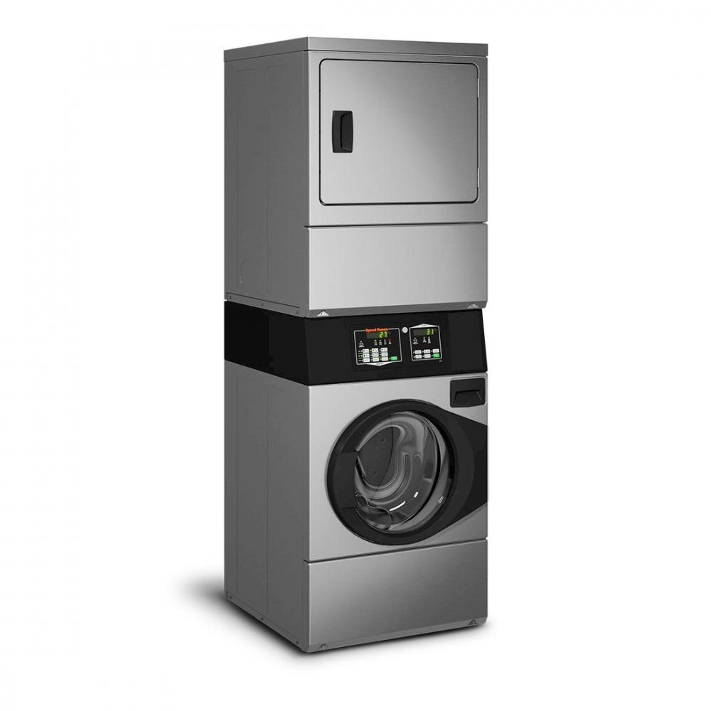 Lavadora e Secadora à Gás Comercial Speed Queen Quantum 9,5 Kg Inox sem Cofre e Ficheiro 220V - STGNXASP543DN01