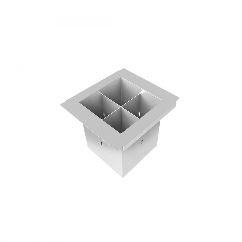 Porta Talheres DeBacco Inox 15cm - 20.04.00117