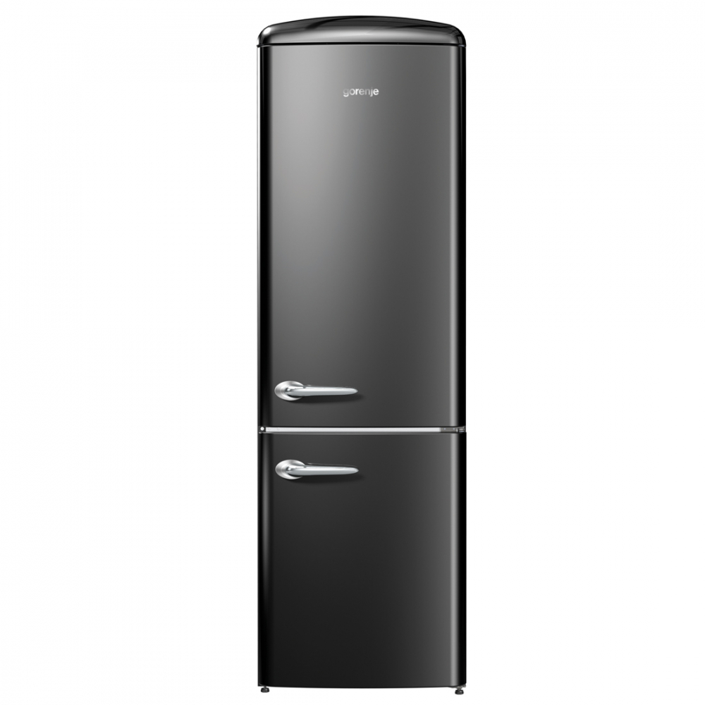Refrigerador Gorenje Retro Collection Ion Generation 2 Portas Inverse Preto 220V ONRK192BK