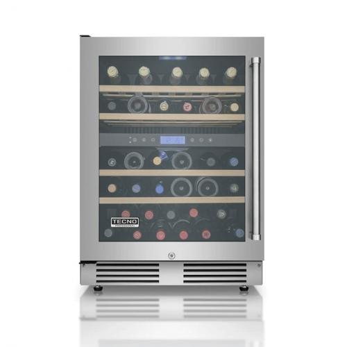 Adega de Vinhos Tecno Professional Gourmet 136 Litros 43 Garrafas Dual Zone de Embutir 220V - TR14AVDA