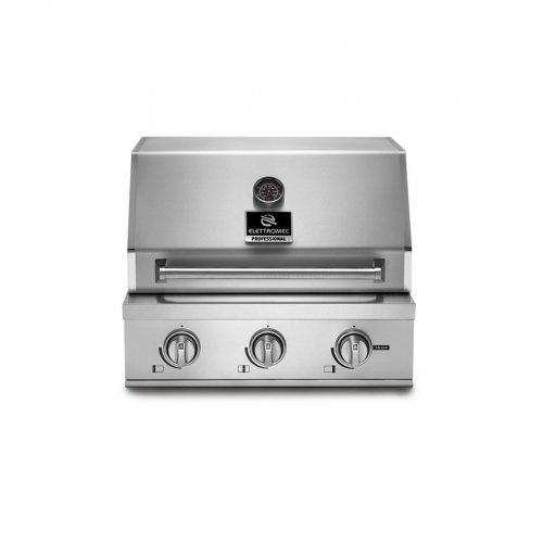 Churrasqueira Profissional à Gás Elettromec 3 Queimadores Inox 65cm - BBQ-3Q-65-XP-NSCA