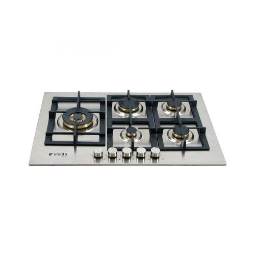 Cooktop Professionale Elanto Semiprofissional a Gás 5 Bocas Inox 75cm 220V - LNTP75GD4BX