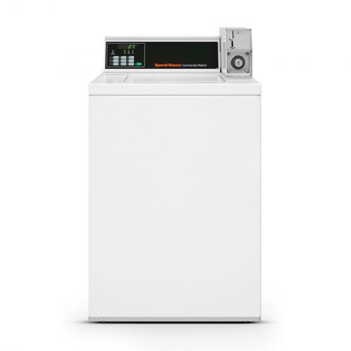Lavadora Comercial Speed Queen de Carga Superior Quantum 7,5 Kg Branca com Cofre e Ficheiro - SWNNX2SP