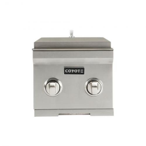 Queimador Lateral de Embutir à Gás Coyote Dual Burner GLP - C1DB-LP
