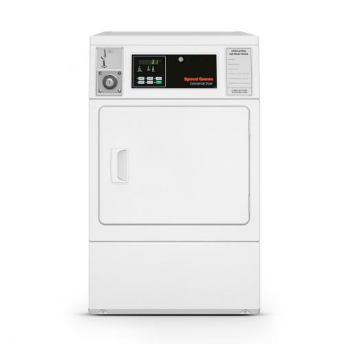 Secadora Comercial Elétrica Speed Queen Quantum 8,2 Kg Branca com Cofre e Ficheiro 220V - SDENXAGS543DW01