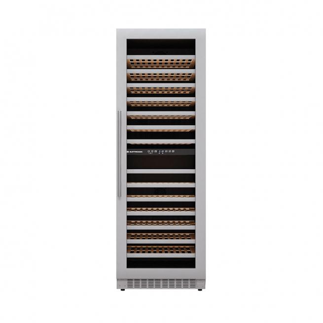 Adega de Vinhos Elettromec 160 Garrafas de Embutir Dual Zone Reversível Inox 220V