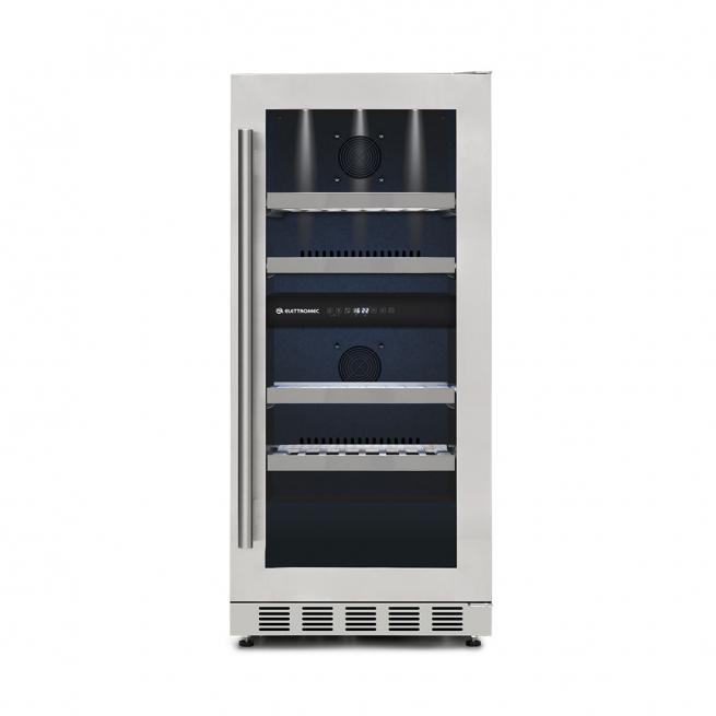 Adega de Vinhos Elettromec 31 Garrafas Dual Zone de Embutir 220V
