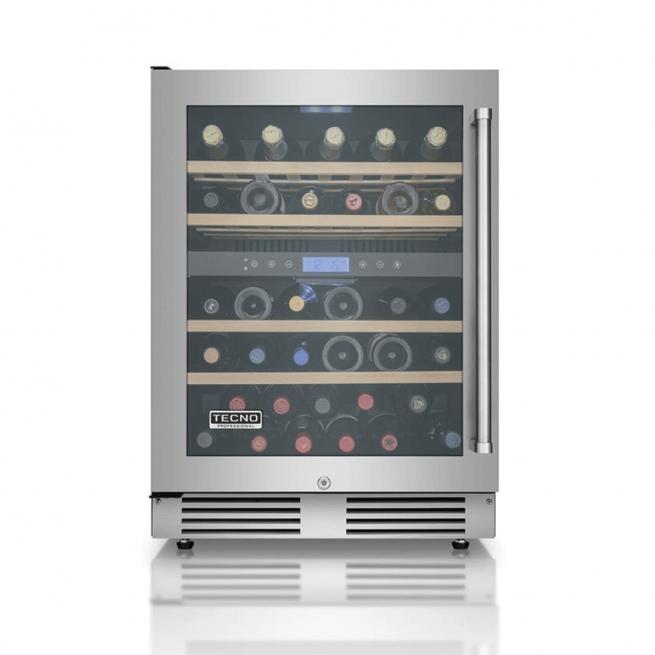 Adega de Vinhos Tecno Professional Gourmet 136 Litros 43 Garrafas Dual Zone de Embutir 220V - TR14AVDB