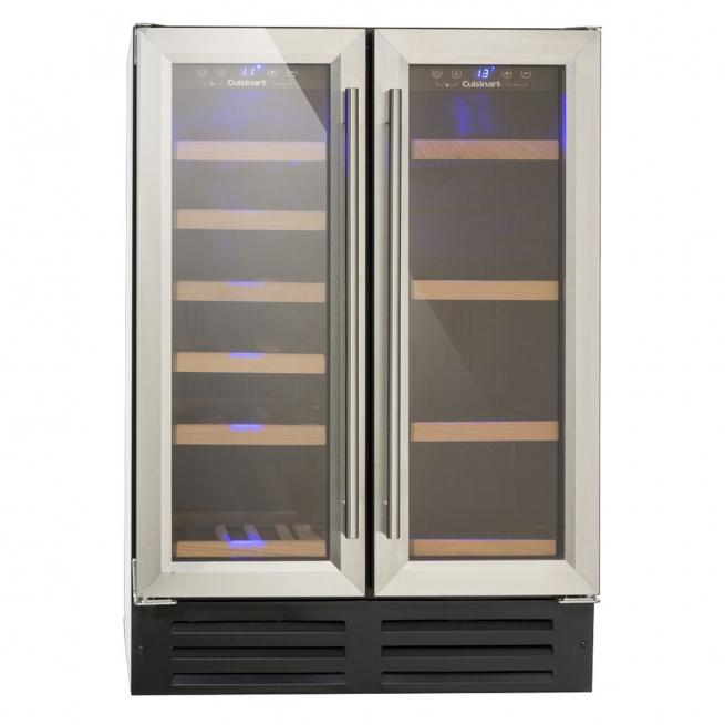 Adega e Frigobar Cuisinart Prime Cooking 19 Garrafas e 58 Latas Compressor Dual Zone 220V BU-116D