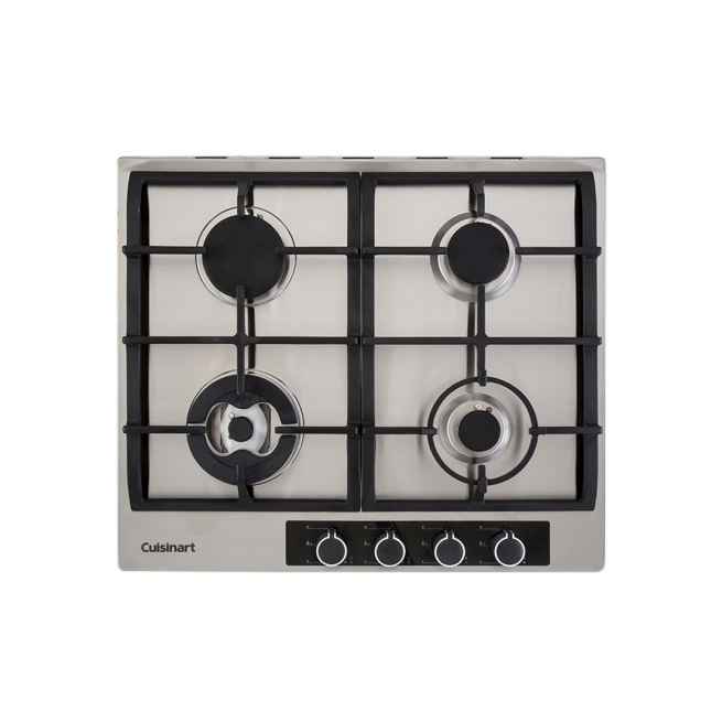 Cooktop à Gás Cuisinart Casual Cooking 4 Queimadores Inox 60cm 220V P640STX