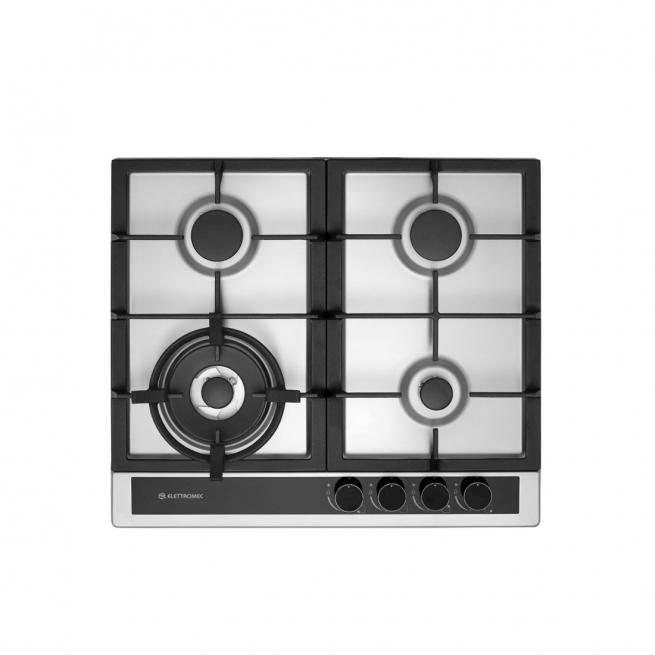 Cooktop à Gás Elettromec Sole 4 Queimadores Inox 60cm Bivolt CKG-4Q-60-SL-3TNA