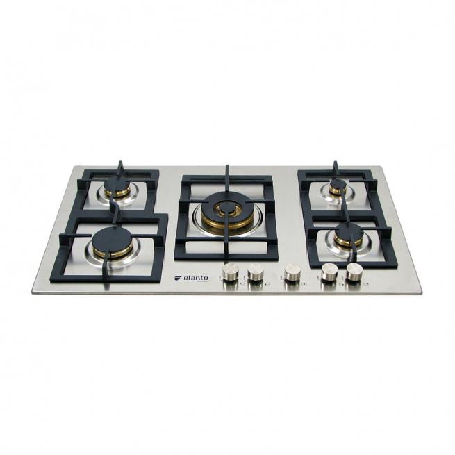 Cooktop Professionale Elanto Semiprofissional a Gás 5 Bocas Inox 86cm 220V - LNTP95GDC5BX