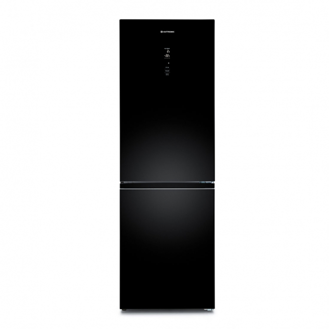 Refrigerador Elettromec Vetro Bottom Freezer 317 Litros Vidro Preto 220V - RF-BF-360-VT-2HMB