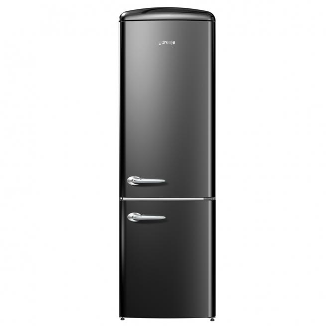 Refrigerador Gorenje Retro Collection Ion Generation 2 Portas Inverse Preto 220V ONRK192BK